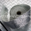 exhaust wrap covered by aluminum foil
