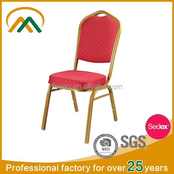 China Furniture metal stackable aluminium banqute chair KP-BC004