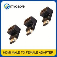 gold plated HDMI to DVI 90 degree hdmi cable 5m hdmi to rj45 adapter adapter