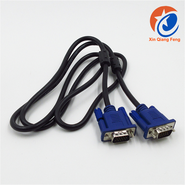 Wholesale nickel plated blue 1.5 m VGA connector cable for computer