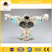 High-class european-style paint dried fruit compote fashion desktop decoration ceramic bowl The sitting room place