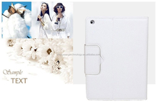New fashion portable folding stand bluetooth keyboard PU leather White case for Ipad 4