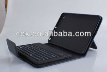Black For Apple New ipad mini Wireless Bluetooth Removable Keyboard + Stand Folding Leather Case
