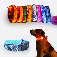led nylon blinking illuminated dog collar ,kyTvx 2017 newest usb battery rechargable led dog collar