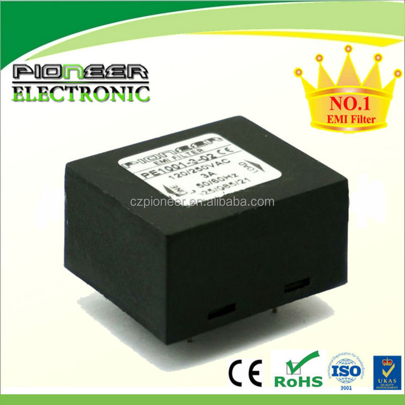 PE1001 PCB Mounting EMI Filter with passive harmonic single phase filter