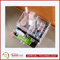 2 tire 3 drawer open topping accessory lipstic eyebrush nail polish clear acrylic polish storage box makeup display organizer