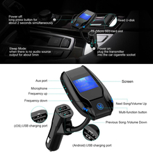 Car Radio Tuner Combination Enabled Car mp3 Player Bluetooth Radio car FM Transmitter for sale