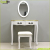 Goodlife vanity set with stool and mirror makeup dressing table