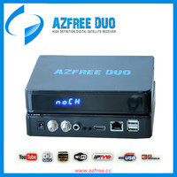 2016 Newest Decodificador satelital AZFREE DUO With iks sks iptv free for South America