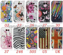 Butterfly Flower PU Leather Case for Samsung Galaxy Express i8730 Flip Case