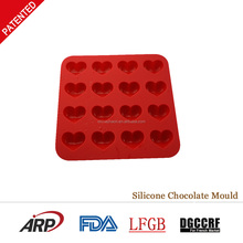 Heart shape christmas gift silicone toblerone chocolate mould