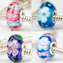 all kinds of 925 stamped murano glass beads,high quality