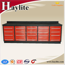 Heavy duty 10ft metal drawer workbench for garage workshop