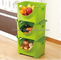 plastic fruit and vegetable storage container case/box