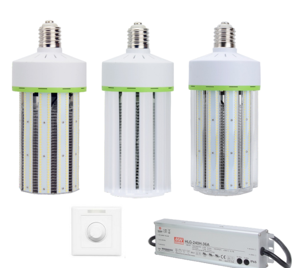Replacement 350W-400W Metal Halide/HPS Mogul base dimmable LED 100W Corn Blubs
