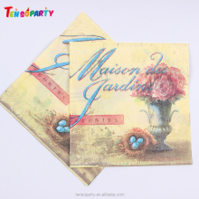 Hot Selling Custom Logo Printed Eco-Friendly dinner paper napkins sanitary napkin manufacturer