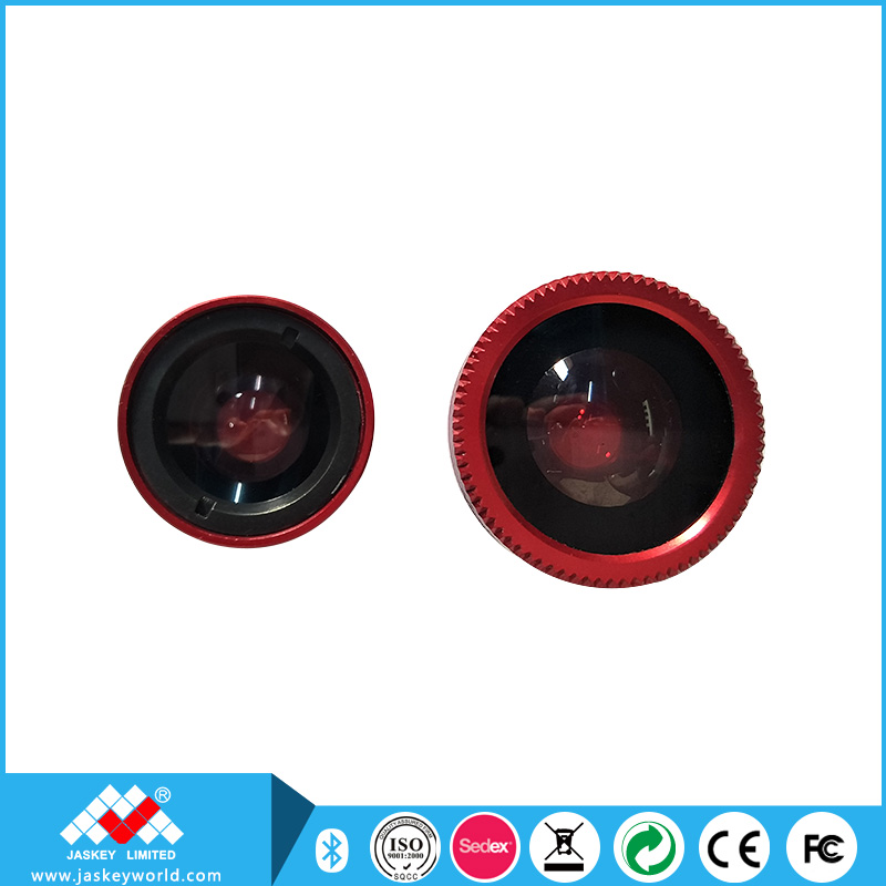 180 Degree Red Fish Eye Lens + Wide Angle + Micro Lens Kit for Promotion