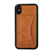 Micro fiber Leather Case for iphone X business Style stand phone back cover PC + TUP case