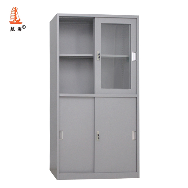 Sliding Door Office Supplies Storage Cupboard Metal Iron Cabinet For Archive
