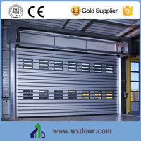 China Factory Open Style Metal Security Door Attach With Window