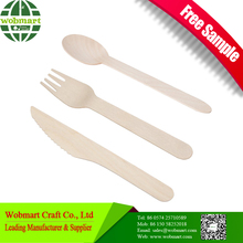 Hot-Sale Knife Fork Spoon Wooden Disposable Cutlery Set