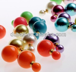 Latest Design Facny Colored Jewelry Stud Earrings,Fashion 2014 Charm Imitation Pearl Earrings