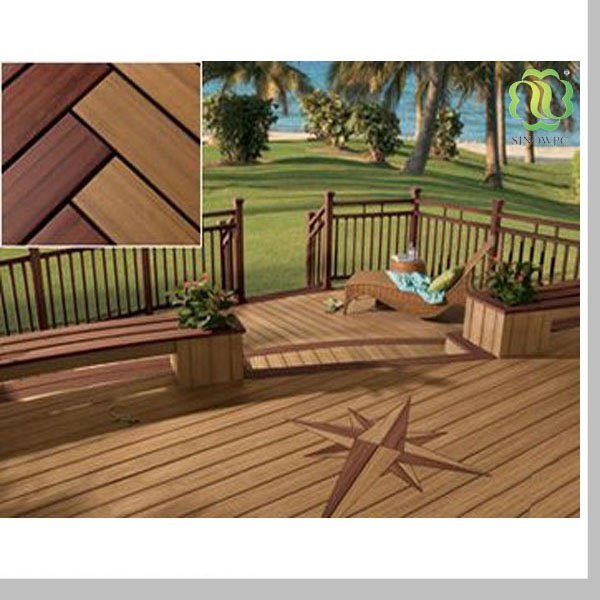 Interlocking Removable Floor Tiles Wpc Composite Board Teak Outdoor Parquet