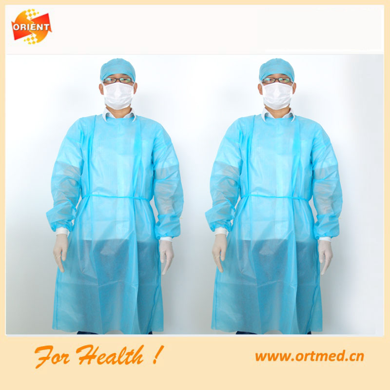 Ebola prevention alibaba express knitted cuff surgical gown