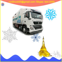 China sinotruck howo T5G ZZ1317N466GD18*4 25ton diesel used refrigerated van for sale in iran