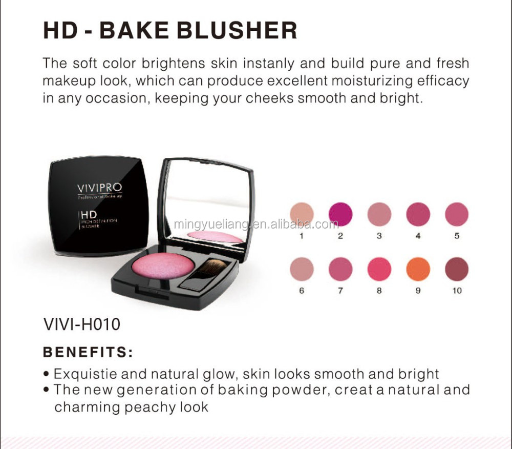 Professional cosmetic product face brightening soft mineral blusher