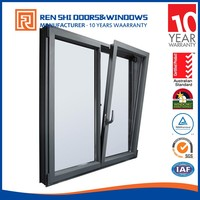 New design fire rated tilt & turn fabrication of aluminum windows and doors