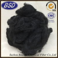 carbon black psf polyester staple fiber