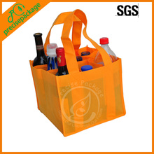 9 Bottle Wine Tote Bag shopping bag with PP nonwoven