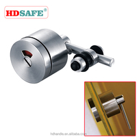 SUS304 grade high quality security Europe stainless steel glass hardware bathroom door lock