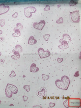 Supply heart patten spraying organza,some different designs for your choose