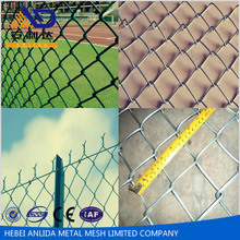ISO 9001China pvc coated stainless steel wire mesh chain link fence