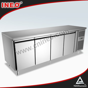 304 stainless steel commercial kitchen table top freezer