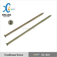 Concrete screw/Window frame screw, torx flat head,yellow zinc
