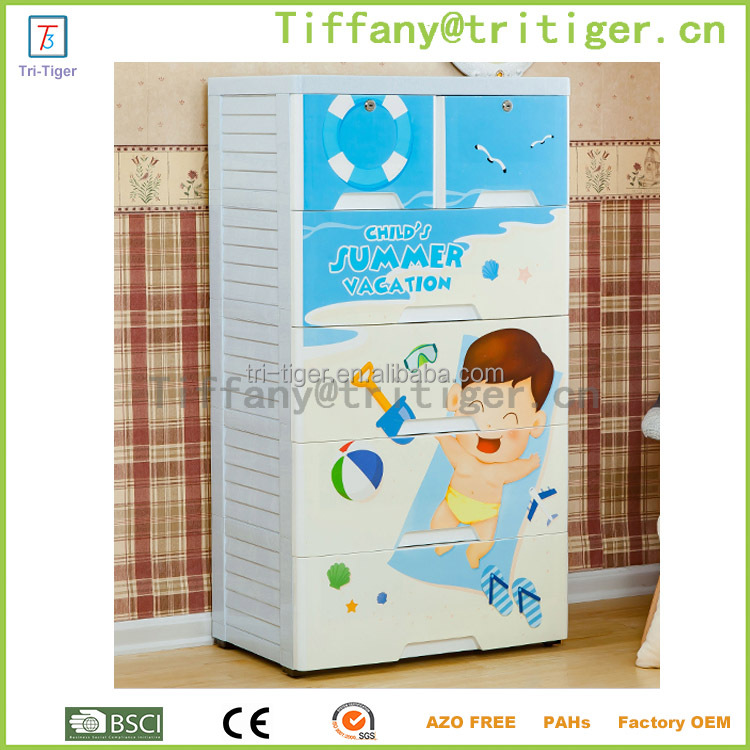 New design Portable Waterproof Transparency Furniture Closet/Kids Plastic Wardrobe Closet