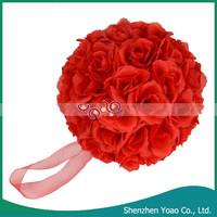 Wholesale 20cm Rose Artificial Wedding Flower Ball
