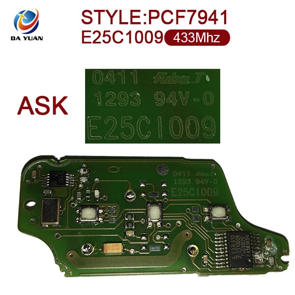 AK016026 Car key for Citroen 0523 3 Button 433mhz key chip ID46 PCF7941 E25C1009 ASK