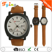 China supplier mens watches/leather strap curren watch/Chinese wholesale watches men luxury
