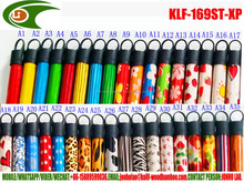 Pvc coated wooden rod for squeegee with different pvc pattern and different cap