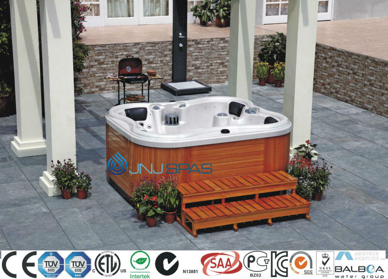 3person hot tub butterfly outdoor spa from JNJ SPAS