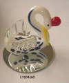 New Design Swan Glass Animal Figurines For Decorations