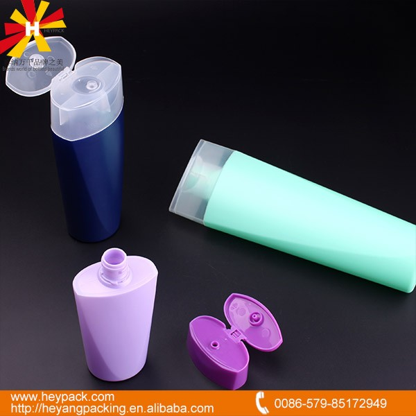 User friendly flip cap 150ml 300ml 500ml any color HDPE empty shampoo bottles