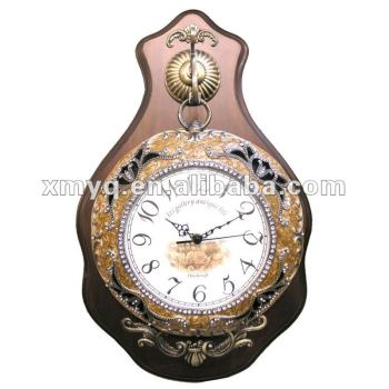 Hot-sell antique wooden carved clock