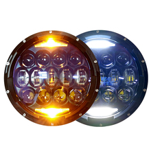 Waterproof IP67 7 inch 130W round led headlight 12v 24v for jeep wrangler jk/jl
