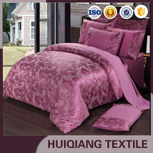 Home Textile 100% Polyester Jacquard Fabric for bedding 4pcs set