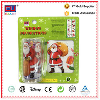 Christmas Decorations Removable Transparent Santa Claus Window Clings